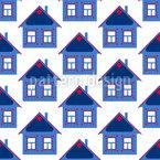 Skandinavisches Winterhaus Musterdesign