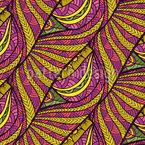 Tropischer Bastkorb Nahtloses Muster
