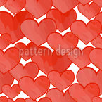 Ocean Of Hearts Seamless Vector Pattern Design