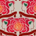 Lady Rose Seamless Vector Pattern Design