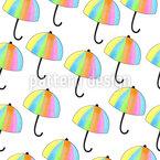 Es regnet Regenschirme Nahtloses Vektormuster
