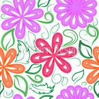 Aquarell Flora Nahtloses Vektormuster