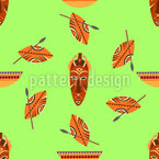 Afrikanische Artefakte Vektor Muster