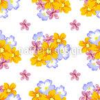 Arranjo Floral Design de padrão vetorial sem costura