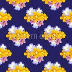 Wedding Flower Arrangement Repeating Pattern