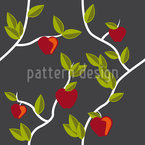 Garden Of Eden Grey Seamless Vector Pattern