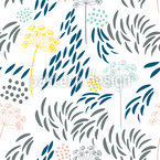 Fennel and Doodles Repeating Pattern