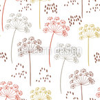 Fennel Seeds and Flowers Repeating Pattern