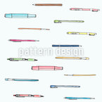 New School Supplies Vector Pattern