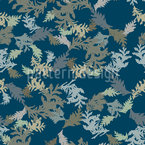 Thuja Branches Repeating Pattern