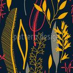 Blätter Silhouetten Schwarz Nahtloses Vektormuster