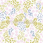 Blüten Doodles Musterdesign