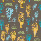 Variation von Bäumen Nahtloses Vektormuster