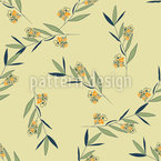 Blumen Und Blatt Nahtloses Muster