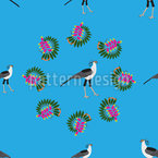 Exotic African Birds  Seamless Vector Pattern Design