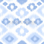 Цветочные ромбы Ikat Бесшовный дизайн векторных узоров