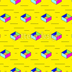 Pop Art Boxes Seamless Vector Pattern