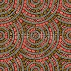 Ethno Mandala Schuppen Musterdesign
