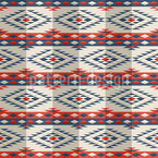 Peruanischer Poncho Nahtloses Vektor Muster
