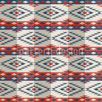 ペルー・ポンチョ シームレスなベクトルパターン設計
