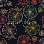 Laser Penny-farthing Design de padrão vetorial sem costura
