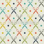 Crossing Scissors Repeating Pattern