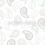 Paisley and Dots  Vector Ornament