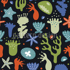 Corals Vector Pattern