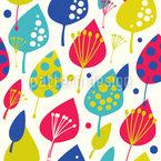 Patchwork-Blätter Nahtloses Vektormuster