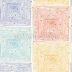 Quadriertes Labyrinth Nahtloses Vektormuster