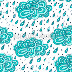 Tropfende Wolken Nahtloses Muster