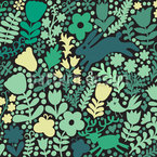 Spring Forest Seamless Vector Pattern