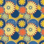 Einfache und bunte Blumen Nahtloses Vektormuster
