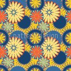 Simple and Colorful Flowers Seamless Vector Pattern Design