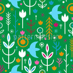 Scandinavian Meadow Seamless Vector Pattern Design