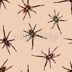 Fear of Spiders Seamless Vector Pattern Design