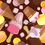 Ice Cream for Everybody Seamless Vector Pattern Design