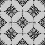 Rombo Barroco Design de padrão vetorial sem costura