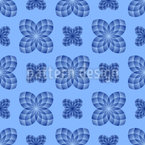 Floral Check Seamless Vector Pattern