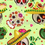 Mexican Sugar Skulls Pattern Design