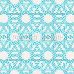 Teia de aranha islâmica Design de padrão vetorial sem costura