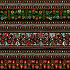 Hungarian Folk Embroidery Seamless Pattern