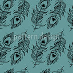 Peacock Plumage Seamless Vector Pattern Design