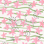 Text Marker Flowers Pattern Design