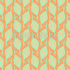 Floral Leaf Arrangement Seamless Vector Pattern