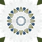 Mandala Sonne Nahtloses Vektormuster