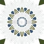 Mandala Sun Seamless Vector Pattern Design
