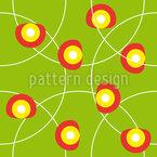 Círculos Flor Design de padrão vetorial sem costura