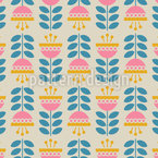 Colorful Upside down flowers Pattern Design