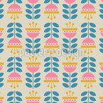 Umgedrehte Farbenfrohe Blumen Musterdesign
